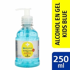 Alcohol en Gel | 250ml Kids con Esferas de Vitamina A y E Blue Porta Bialcohol