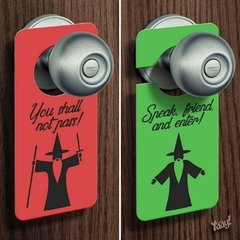 Aviso de Porta You Shall Not Pass - comprar online
