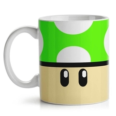Caneca Gamer Cogumelo Grow Up Verde
