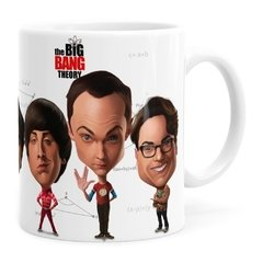 Caneca The Big Bang Theory Caricaturas