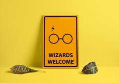 Quadro Harry Potter - Wizards Welcome