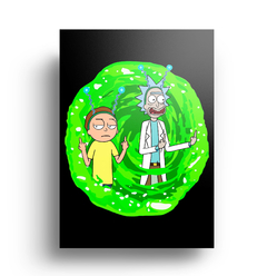 Quadro Rick and Morty - Portal