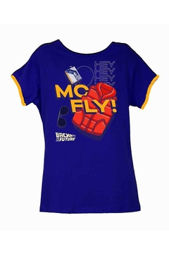 Remera Dama - Back to the Future MC Fly