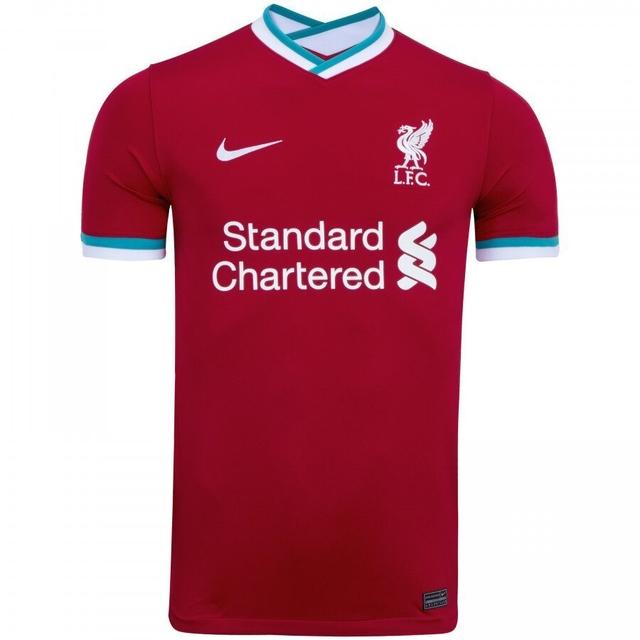 Camisa Liverpool Home 20 21 Nike Masculina Vermelho E Branco