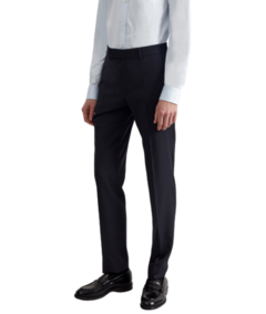 Pantalon alpaca slim fit negro
