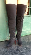 BOTA OVER THE KNEE  MEIA PATA E SALTO FINO NOBUCK PRETO 740116 G