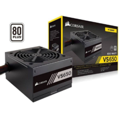 Fonte Corsair 650W 80 Plus White VS650