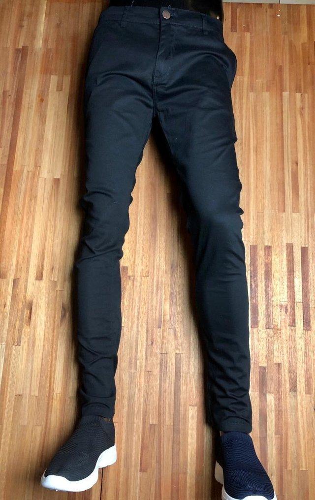 Pantalon Chupin Gabardina Vestir Negro Minimal Store