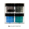 Set X4 Polímero De Color Y Gliter 8g #04 Fantasy Glam2  -CH001-01
