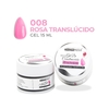 Gel de Construcción 15ml #008 Rosa Traslúcido Uv/Led   -CH007
