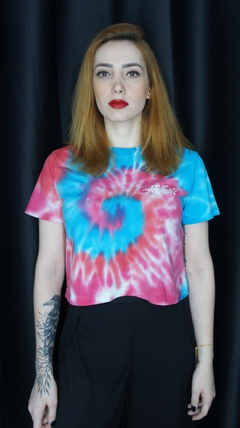 "Cropped Tie-dye ""Not your Angel"""