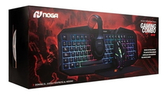 Kit Gamer Teclado + Mouse + Pad + Auricular Noga NKB-403