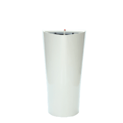 Maceta Triangular Autorriego 55 cm. Blanca
