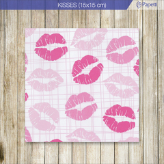 Papel Estampado - Kisses - 15x15 en 90g