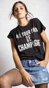 Remera All your pain champagne