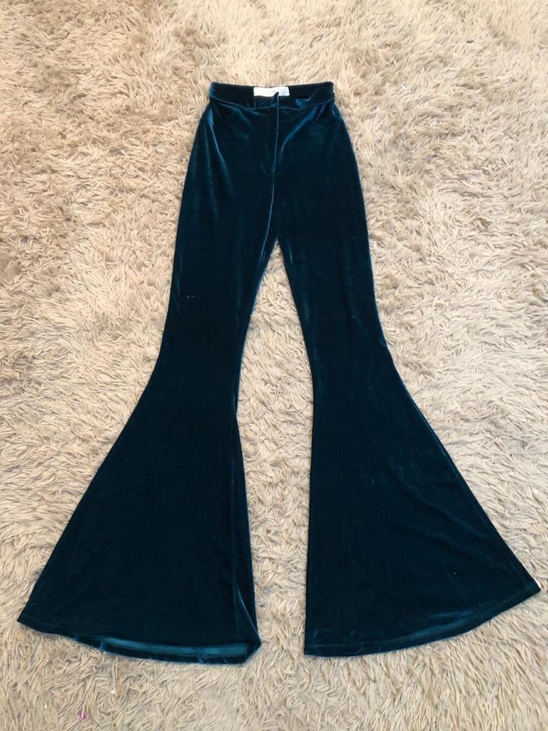 Pantalon Oxford Tiro Alto Plush Feria 20 40