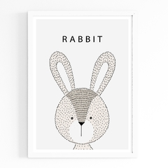 Rabbit hand draw