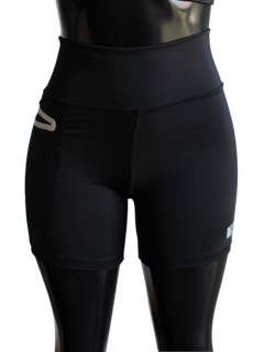 Short Negro con bolsillo reflectivo Fitness