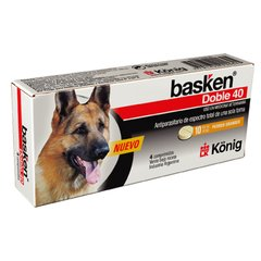 BASKEN DOBLE 40 KG 4 COMP ANTIPARASITARIO INTERNO