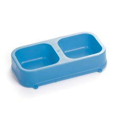 PETS PLASTCOMEDERO DOBLE RECTANGULAR