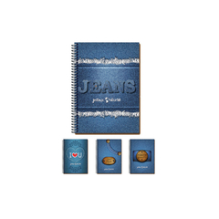 CADERNO 1X1 CD 96F JEANS WORLD - MAXIMA