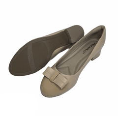 Zapato Piccadilly Uniforme moño Charol Nude Mod. 141077 - EZ Shoes