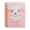CADERNO A6 ESPIRAL - THE SLOTH IS MY SPIRIT ANIMAL - BEE UNIQUE