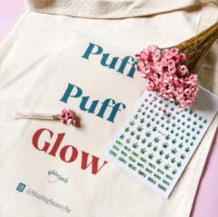 Kit Close: Ecobag + piteira jateada 5mm + nail stickers