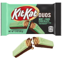 24 Chocolate Kit Kat Duos Mint + Dark Chocolate Importado na internet