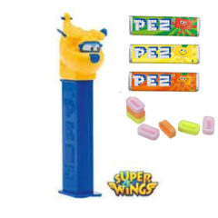 Pez Super Wings Donnie Dispenser + 3 Pastilhas Bala