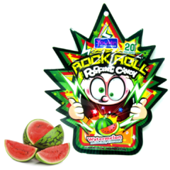 Bala Explosiva melancia Rock Roll Popping Candy 1 pacote com 20 unidades