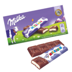 Caixa De Chocolate Milka-milkinis Sticks Tabletes Importado