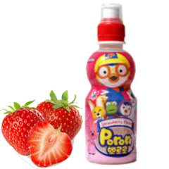 Suco Pororo Importado Coreia 226ml Strawberry (morango)