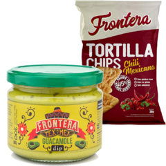 Kit Molho Tex Mex Frontera + Tortilha Chips Chili Mexicano