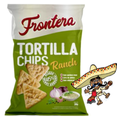 Salgadinho Tortilla Mexicana Chips Ranch Frontera 38g