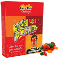 Feijoes Apimentados Jelly Belly Fire Five Top Desafio-cx 45g