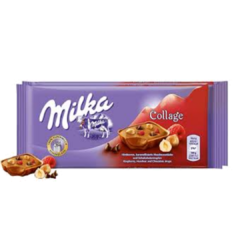 Milka Collage Hazelnut & Raspberry - Importado