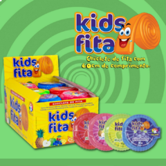 Chiclete Kids Fita  Kids Zone 60 Cm 4 Sabores Sortidos - Casas dos Doces Candy House