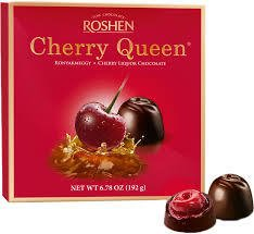 Cherry Queen - Chocolates recheados com Cereja e Licor - Importado 108g