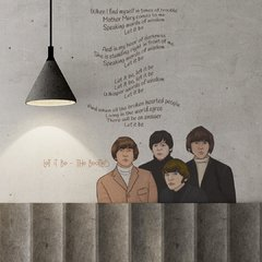Let it be - Rollo. Vinilos decorativos