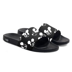 Chinelo Slide Praia Use Praieiro Mickey Black