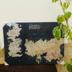 Quadro Mapa Westeros - Game of Thrones