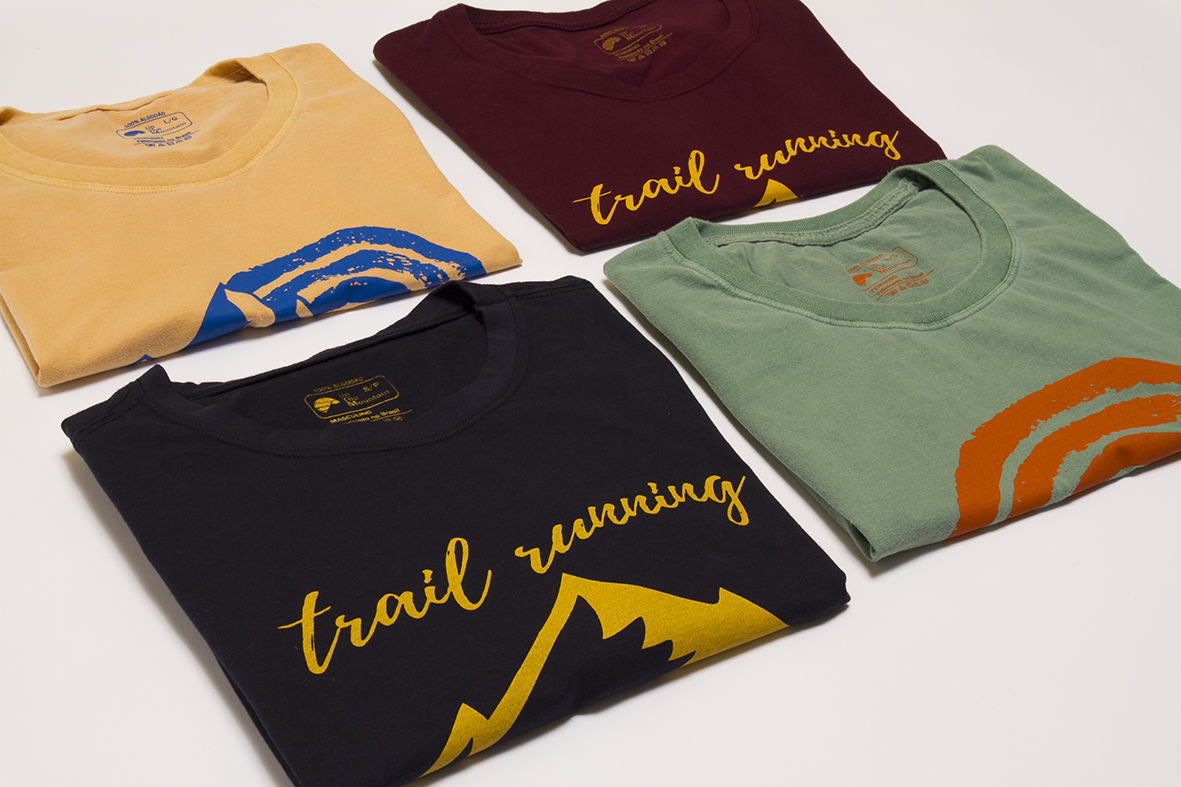"Camisetas Trail Run e Run Wild - Marca: "" Up The Mountain """