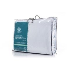 Travesseiro Memory Foam Lottus Gel Infusion Cool Macio 60x40x14cm