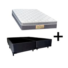 Conjunto Queen Sleep Fresh Sankonfort com Box Universal Preto 158x198x71cm