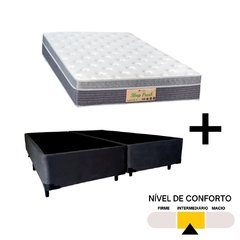 Conjunto King Sleep Fresh Sankonfort com Box Universal Preto 158x198x71cm