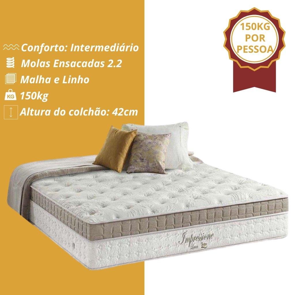 Colchao King Anjos De Molas Pocket Impressione Visco Latex Euro Pillow