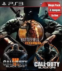 Combo Call Of Duty Black Ops 3 + Black ops 1 + Battlefield Hardline