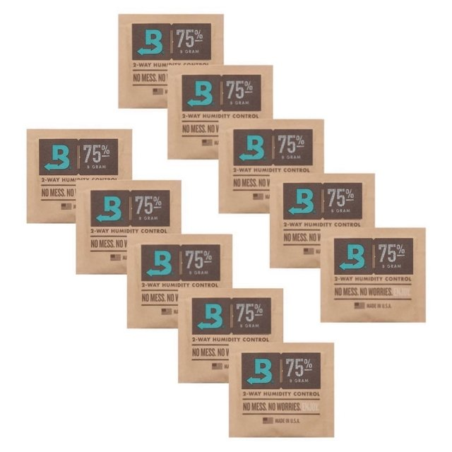 BOVEDA 75% - 8g kit c/10un umidificador charutos