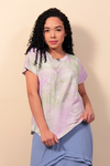 T-Shirt Tie Dye com Hot Fix - Lilás